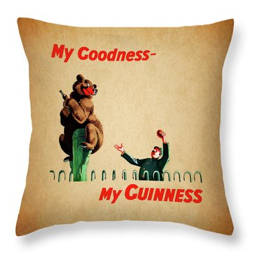 My Goodness My Guinness 2 Throw Pillow by Mark Rogan