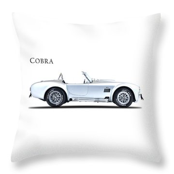 The Shelby Cobra Throw Pillow by Mark Rogan