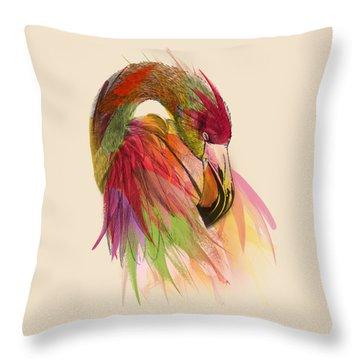 Flamingo  Throw Pillow by Mark Ashkenazi