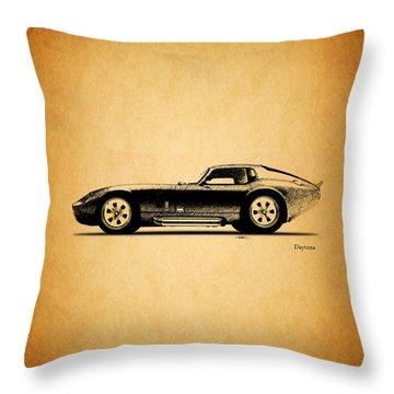 The Daytona 1965 Throw Pillow by Mark Rogan