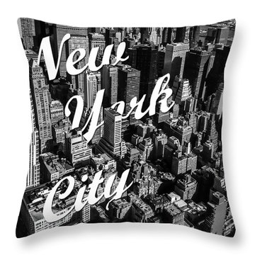 New York City Throw Pillow by Nicklas Gustafsson