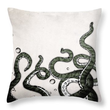 Octopus Tentacles Throw Pillow by Nicklas Gustafsson