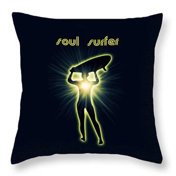 Soul Surfer Throw Pillow by Mark Ashkenazi