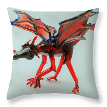 Fang Throw Pillow by Rosanne Wellmaker