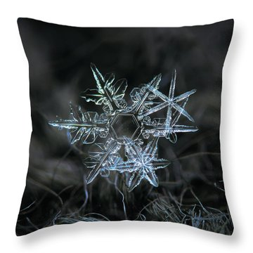 Snowflake Of 19 March 2013 Throw Pillow by Alexey Kljatov