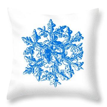 Snowflake Vector - Gardener's Dream White Version Throw Pillow by Alexey Kljatov