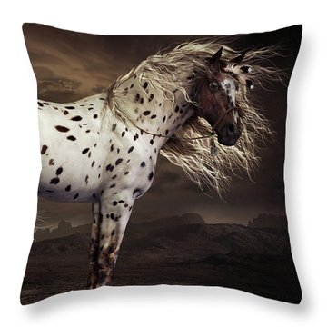 Leopard Appalossa Throw Pillow by Shanina Conway