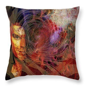 Crimson Requiem Throw Pillow by John Robert Beck