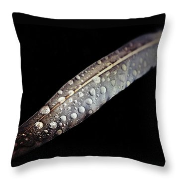 Feather Dew Throw Pillow by Nicklas Gustafsson