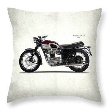 Triumph Bonneville 1968 Throw Pillow by Mark Rogan