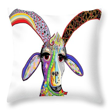 Somebody Got Your Goat? Throw Pillow by Eloise Schneider
