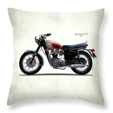 Triumph Bonneville 1969 Throw Pillow by Mark Rogan