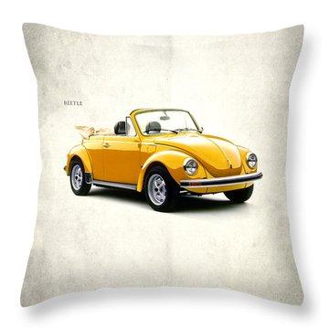 Vw Beetle 1972 Throw Pillow by Mark Rogan