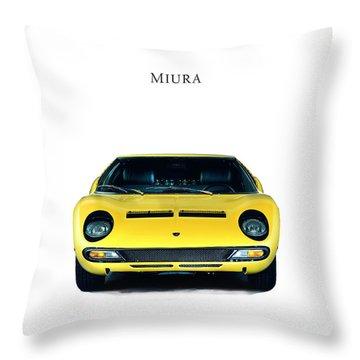 Lamborghini Miura Throw Pillow by Mark Rogan