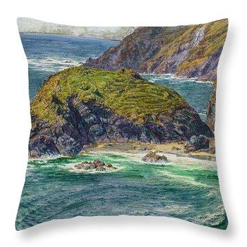 Asparagus Island Throw Pillow by William Holman Hunt