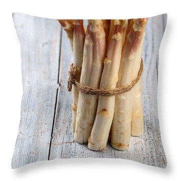 Asparagus Throw Pillow by Nailia Schwarz