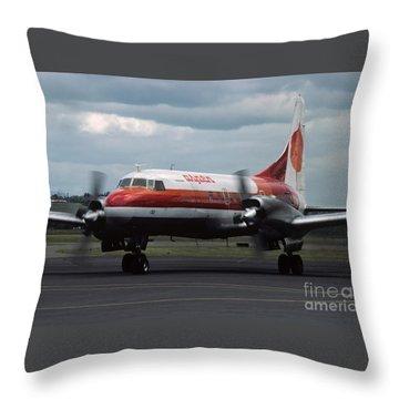 Aspen Convair 580 Throw Pillow by James B Toy