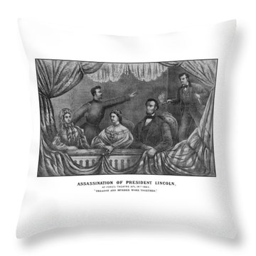 Assassination Of President Lincoln Throw Pillow by War Is Hell Store