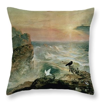 Assuaging Of The Waters Throw Pillow by John Martin