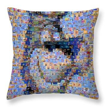 Astro Jetsons Mosaic Throw Pillow by Paul Van Scott