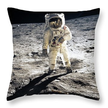 Astronaut Throw Pillow by Photo Researchers