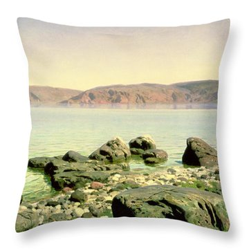 At The Sea Of Galilee Throw Pillow by Vasilij Dmitrievich Polenov
