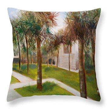 Atalaya Huntington Beach Sc Throw Pillow by Phil Burton