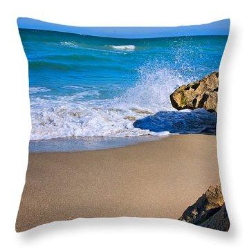 Atlantic Beach Throw Pillow by Robert Smith