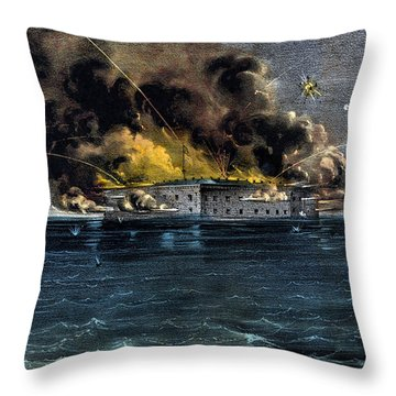 Attack On Fort Sumter Throw Pillow by War Is Hell Store