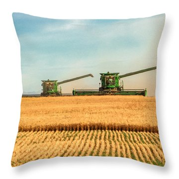 Augers Out Throw Pillow by Todd Klassy