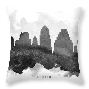 Austin Cityscape 11 Throw Pillow by Aged Pixel