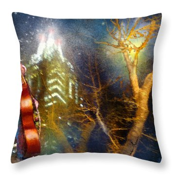 Austin Nights 02 Throw Pillow by Miki De Goodaboom