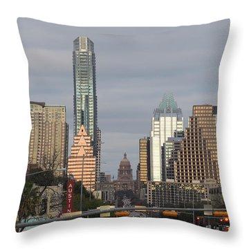 Austin Throw Pillow by Rona Black