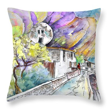 Autol In La Rioja Spain 03 Throw Pillow by Miki De Goodaboom