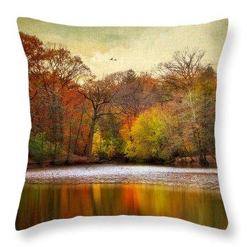 Autumn Arises 2 Throw Pillow by Jessica Jenney