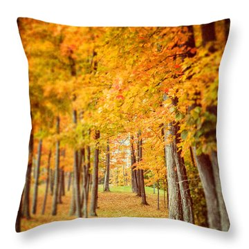 Autumn Grove  Throw Pillow by Lisa Russo