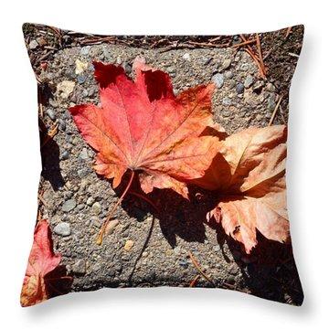 Autumn Is Here Throw Pillow by Blenda Studio