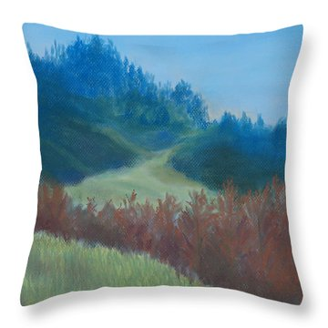 Autumn Landscape Of The Mind Throw Pillow by Jenny Armitage
