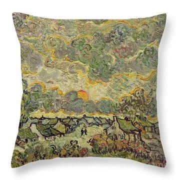 Autumn Landscape Throw Pillow by Vincent Van Gogh