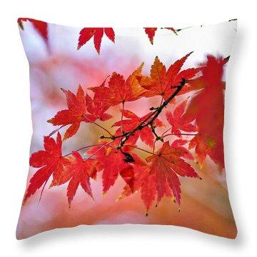 Autumn Pastel Throw Pillow by Kaye Menner