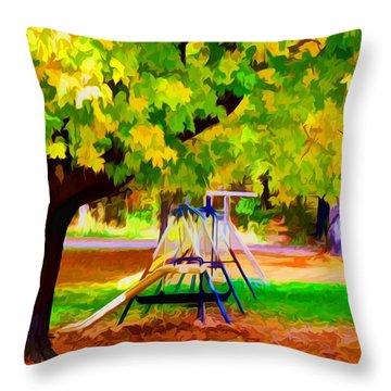 Autumn Playground 1 Throw Pillow by Lanjee Chee