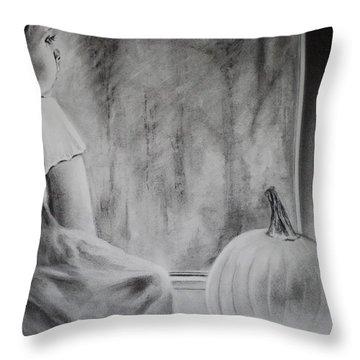 Autumn Rain Throw Pillow by Carla Carson