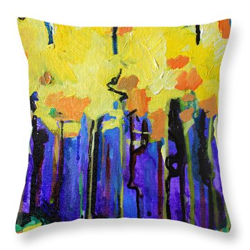 Autumn Rain Throw Pillow by Julia Pappas