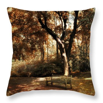 Autumn Repose Throw Pillow by Jessica Jenney