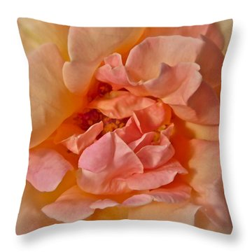 Autumns Rose Throw Pillow by Gwyn Newcombe