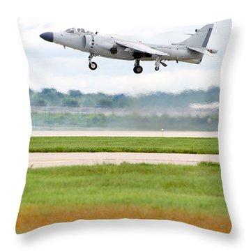 Av-8 Harrier Throw Pillow by Sebastian Musial