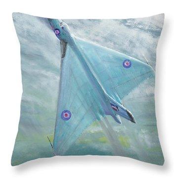 Avro Vulcan B1 Night Flight Throw Pillow by Vincent Alexander Booth