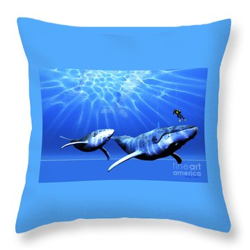 Awesome Throw Pillow by Corey Ford