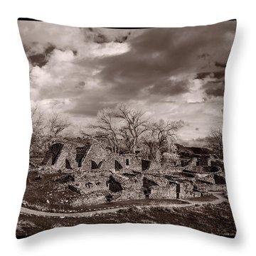 Aztec Ruins National Monument Throw Pillow by Steve Gadomski