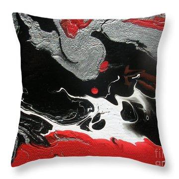 Aztec Warriors Throw Pillow by Dawn Hough Sebaugh